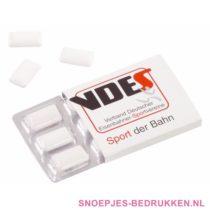 Kauwgom bedrukken, kauwgom bedrukt, kauwgom met logo, kauwgomzakje bedrukken, kauwgompotje bedrukken, snoep bedrukken